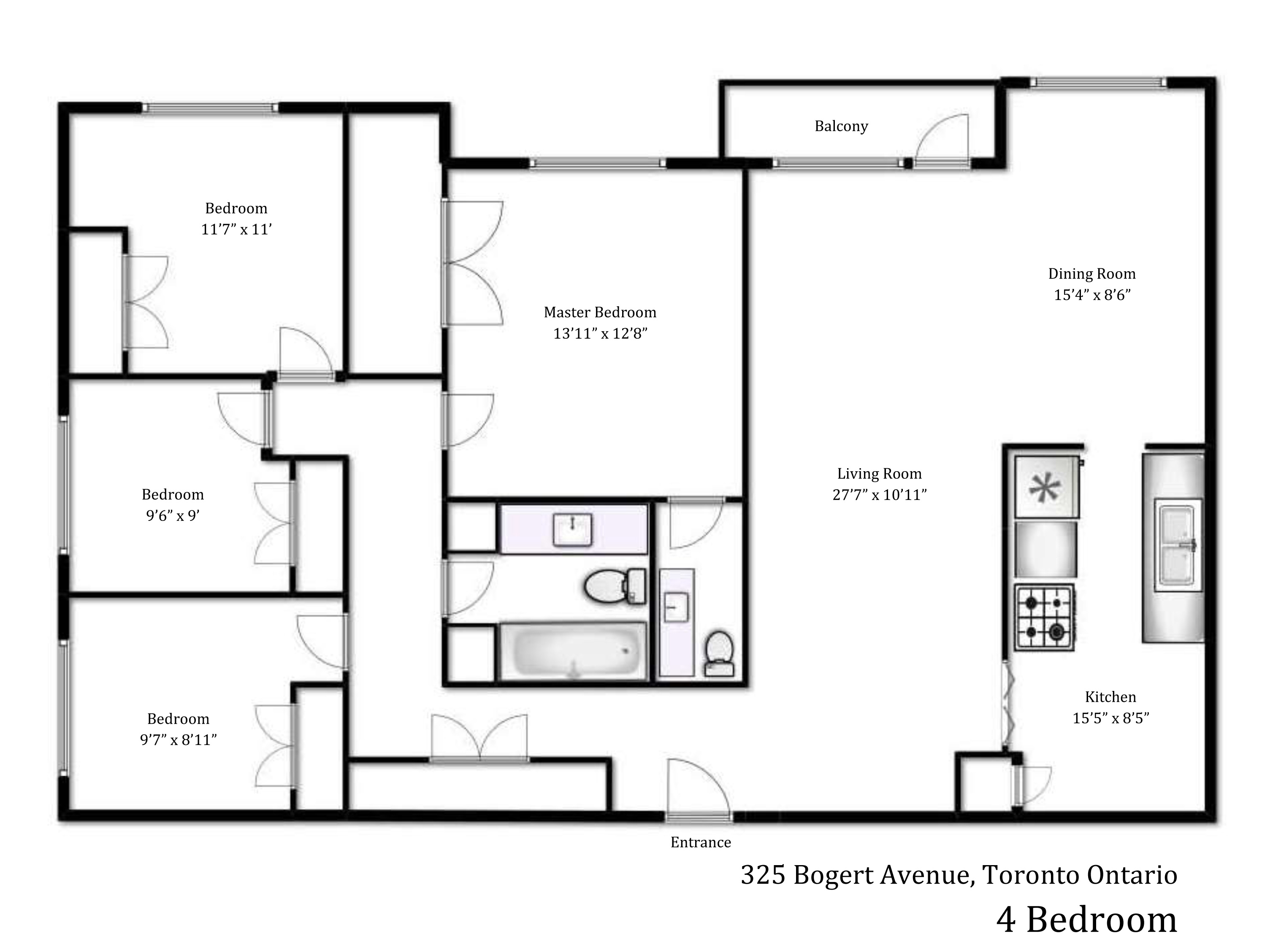 Gallery heath residence 325 bogert ave 4 room floor plan