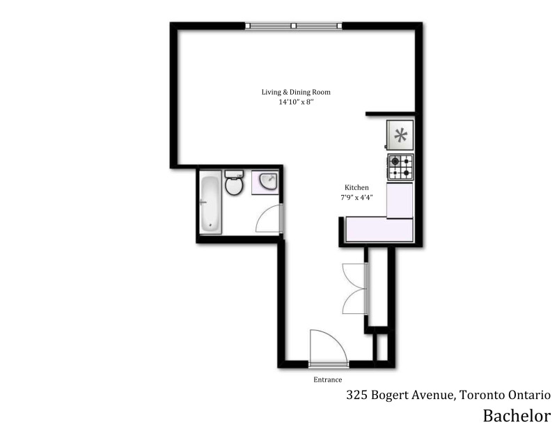 325 Bogert bachelor floor plan
